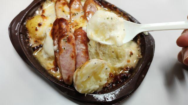 マッシュポテトとソーセージのチーズ焼き